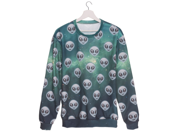 Bluza Fullprint 3d Alien Stay